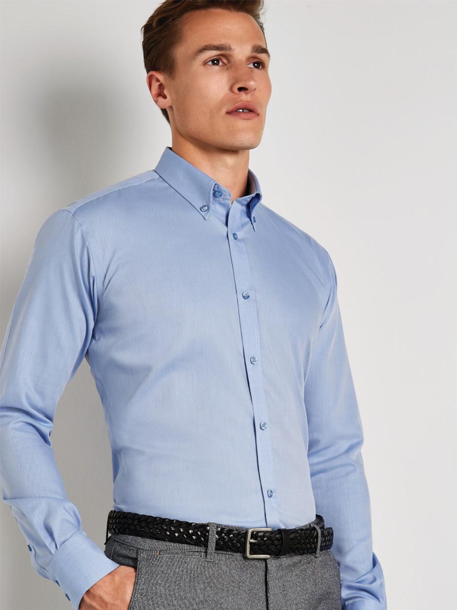 KK139 Slim Fit Non Iron Long Sleeve Twill Shirt