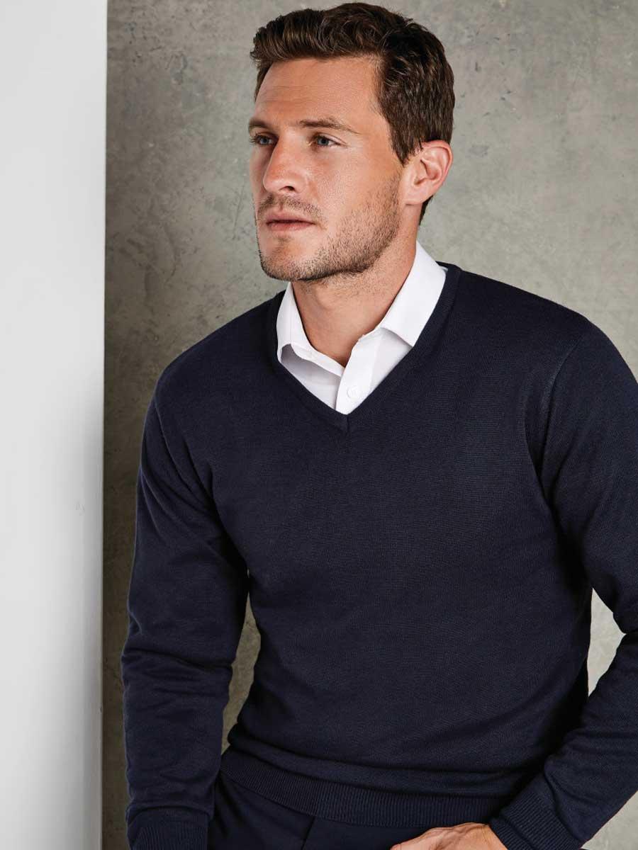 Regular Fit Arundel Long Sleeve V-Neck Sweater