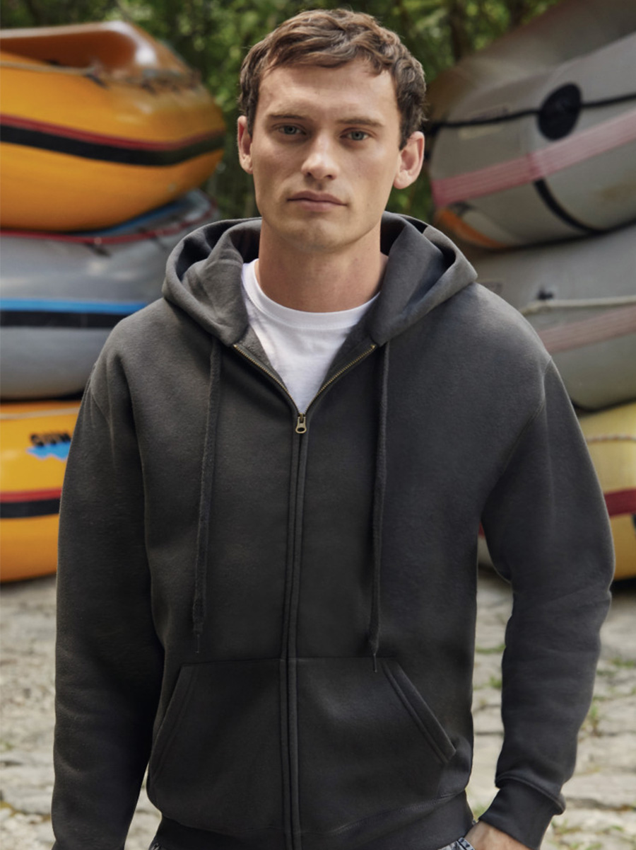 62034 Men's Premium Hooded Sweat Jacket