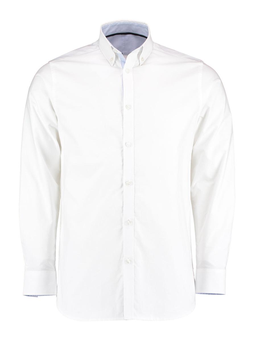 KK145 Long Sleeve Contrast Oxford Shirt