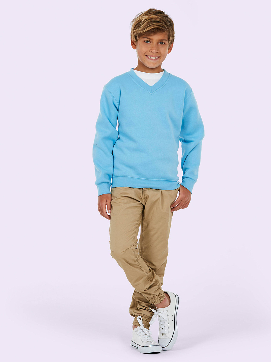 UC206 Childrens V Neck Sweatshirt