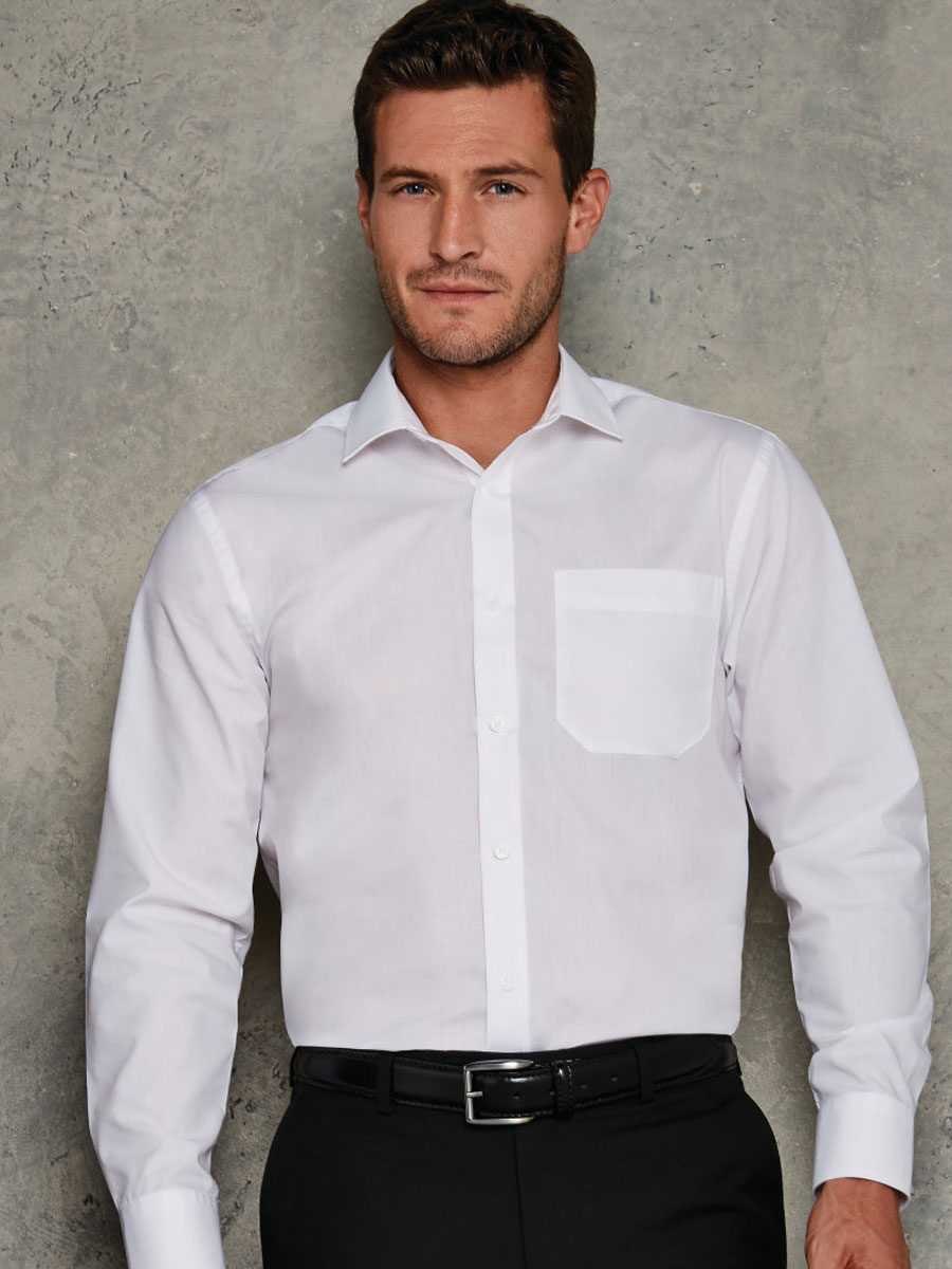 Tailored Fit Long Sleeve Poplin Shirt