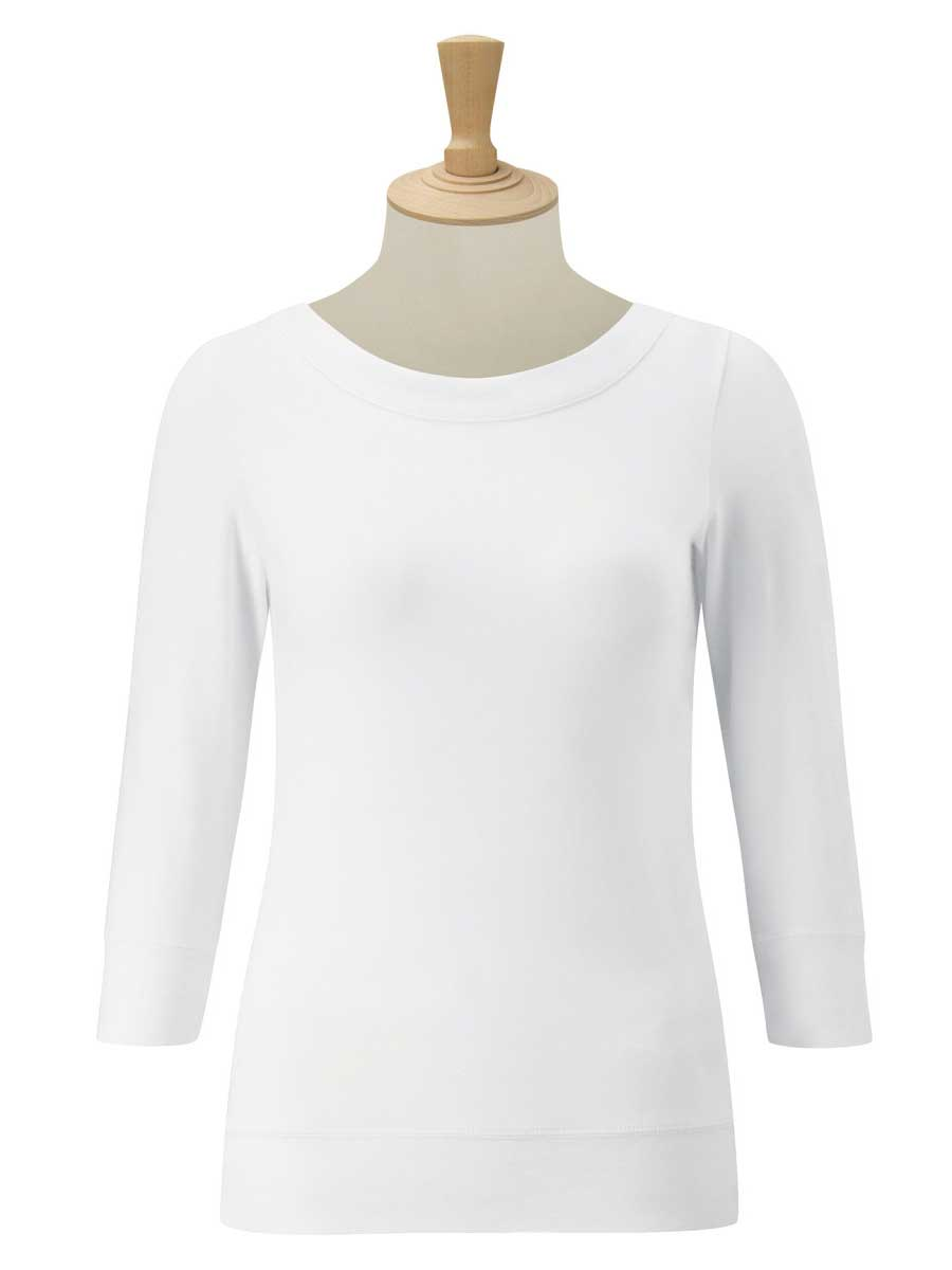Ladies' 3/4 Sleeve Stretch Top
