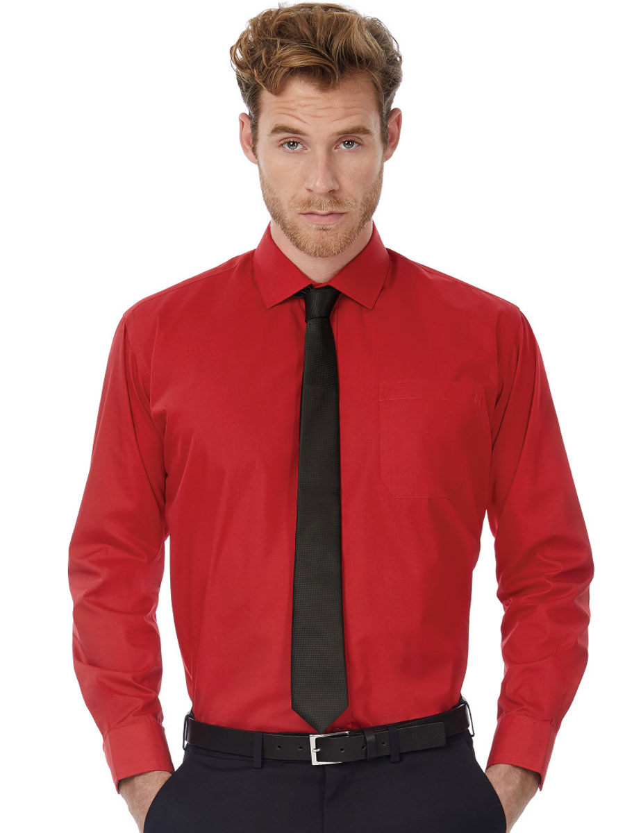 Men's Smart Long Sleeve Poplin Shirt