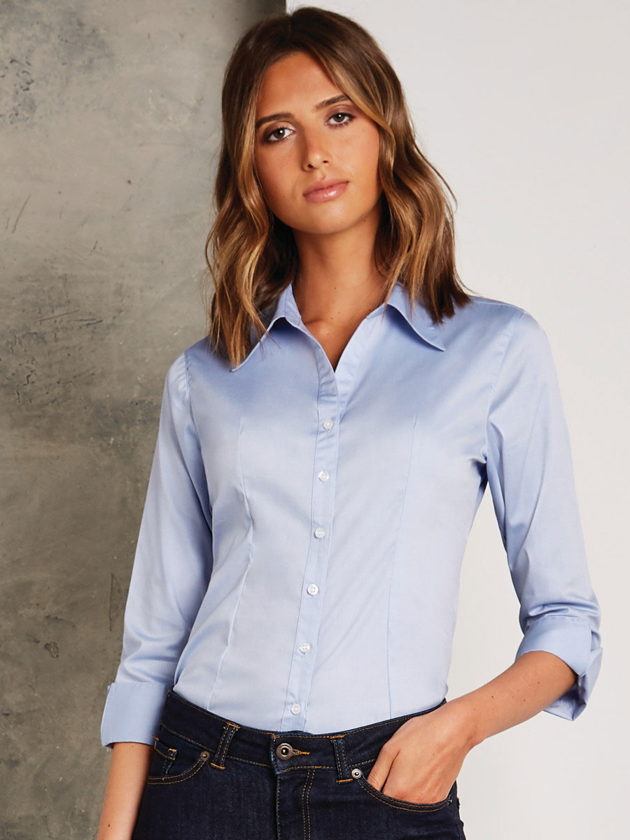 Tailored Fit 3/4 Sleeve Premium Oxford Shirt